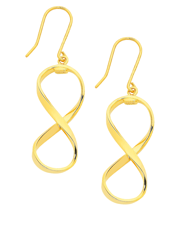 Gold Fusion Earrings - Gold Drop Earrings - 759504 - Salera's Melbourne, Victoria and Brisbane, Queensland Australia