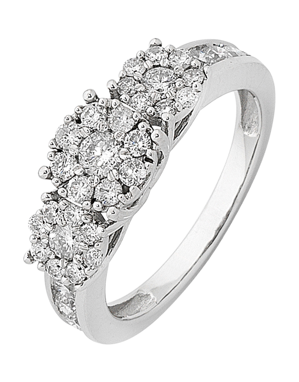 Diamond Ring - White Gold Diamond Cluster Ring - 759698 - Salera's Melbourne, Victoria and Brisbane, Queensland Australia