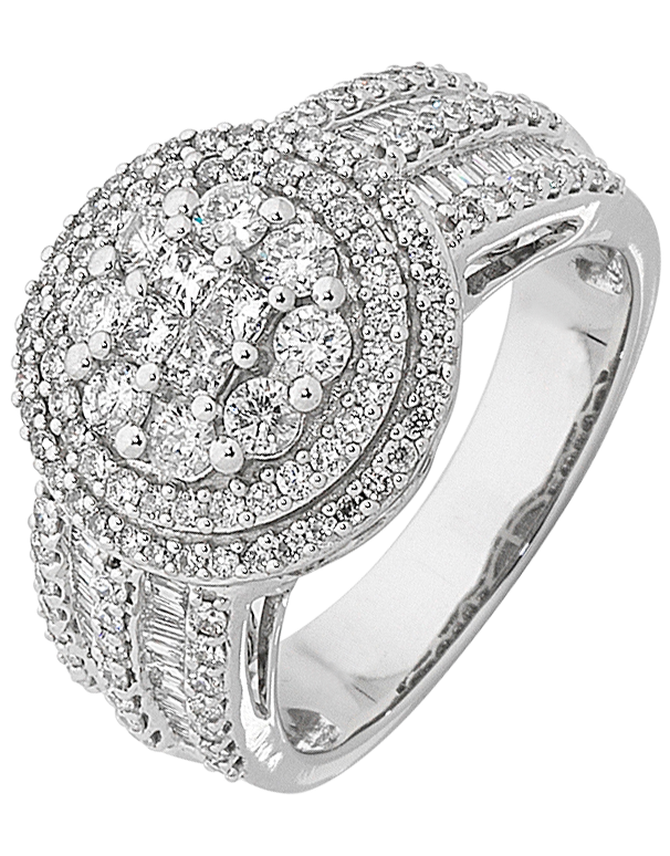 Diamond Ring - 14ct White Gold Diamond Ring - 759743 - Salera's Melbourne, Victoria and Brisbane, Queensland Australia