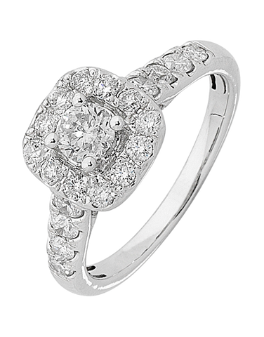 Diamond Ring - White Gold Diamond Ring - 759816