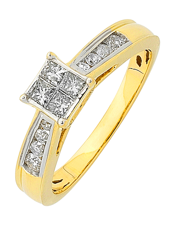 Diamond Ring - Yellow Gold Diamond Ring - 759817 - Salera's Melbourne, Victoria and Brisbane, Queensland Australia