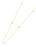 Pearl Necklace - Yellow Gold Pearl Necklet (90cm) - 760151 - Salera's