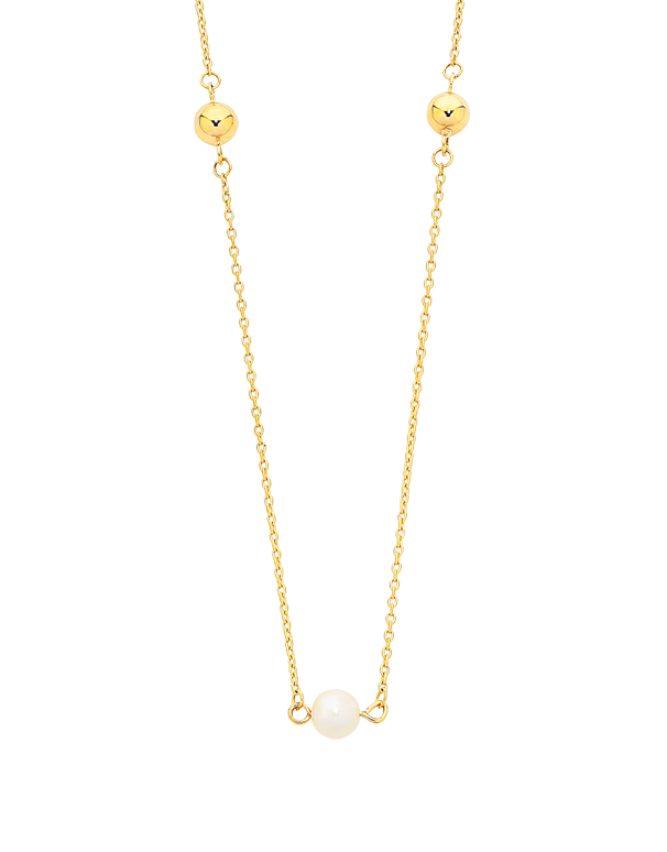 Pearl Necklace - Yellow Gold Pearl Necklet (50cm) - 760154 - Salera's Melbourne, Victoria and Brisbane, Queensland Australia - 1