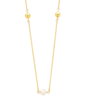 Pearl Necklace - Yellow Gold Pearl Necklet (50cm) - 760154 - Salera's