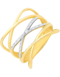 Gold Ring - Two Tone Gold Ring - 760167 - Salera's Melbourne, Victoria and Brisbane, Queensland Australia - 1