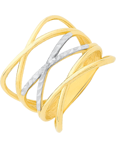Gold Ring - Two Tone Gold Ring - 760167
