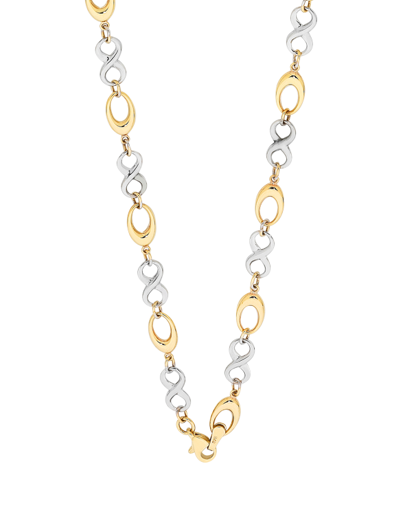 context jewellers beaverbrooks infinity p gold necklace the large
