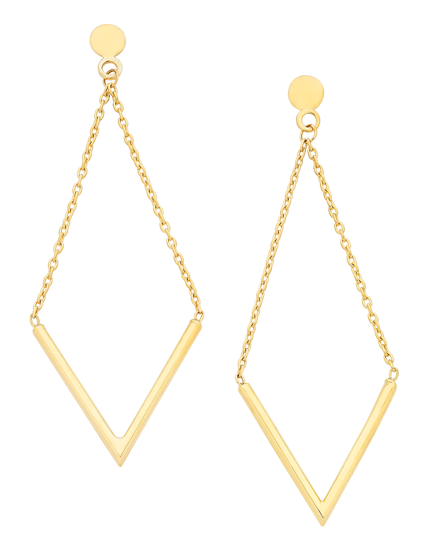 Gold Earrings - Yellow Gold Drop Earrings - 760174 - Salera's Melbourne, Victoria and Brisbane, Queensland Australia