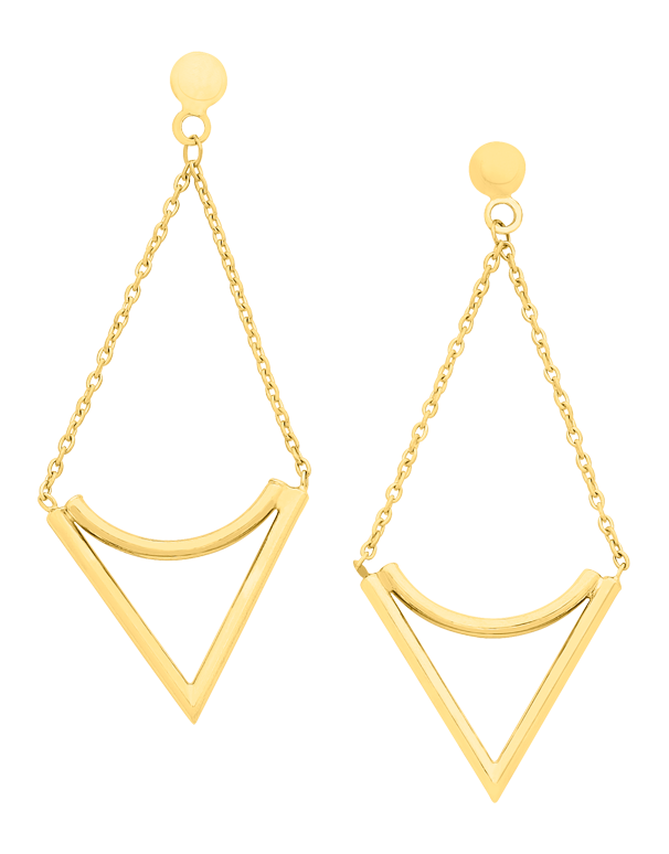 Gold Earrings - Yellow Gold Drop Earrings - 760175 - Salera's Melbourne, Victoria and Brisbane, Queensland Australia