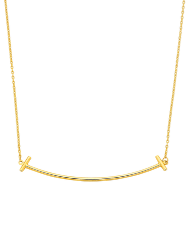 Gold Necklace - Yellow Gold Bar Necklet - 760176