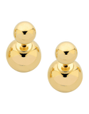 Gold Earrings - 9ct Yellow Gold Double Ball Studs - 760180 - Salera's Melbourne, Victoria and Brisbane, Queensland Australia - 1