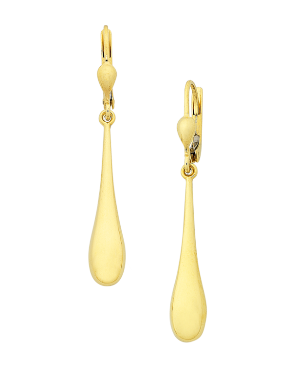 Gold Earrings - Yellow Gold Drop Earrings - 760182