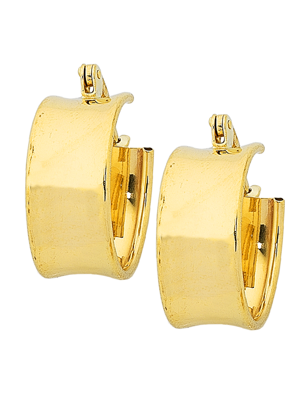 Gold Earrings - 9ct Yellow Gold Hoop Earrings - 760185 - Salera's Melbourne, Victoria and Brisbane, Queensland Australia - 1
