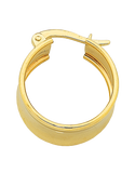 Gold Earrings - 9ct Yellow Gold Hoop Earrings - 760185 - Salera's Melbourne, Victoria and Brisbane, Queensland Australia - 2