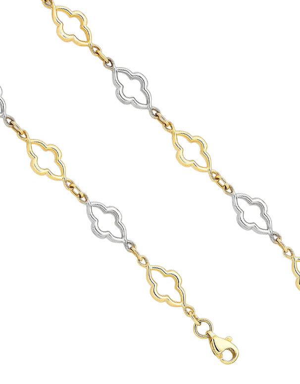 Gold Bracelet - Two Tone Gold Bracelet - 760189 - Salera's Melbourne, Victoria and Brisbane, Queensland Australia