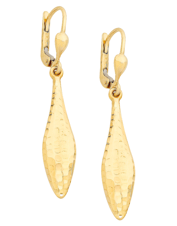 Gold Earrings - Yellow Gold Drop Earrings - 760196 - Salera's Melbourne, Victoria and Brisbane, Queensland Australia