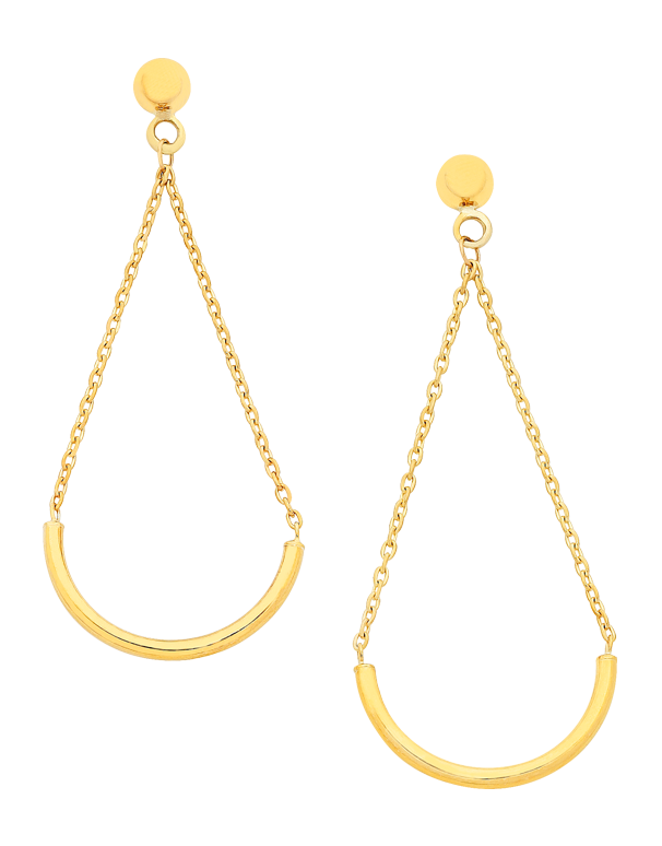Gold Earrings - Yellow Gold Drop Earrings - 760197 - Salera's Melbourne, Victoria and Brisbane, Queensland Australia