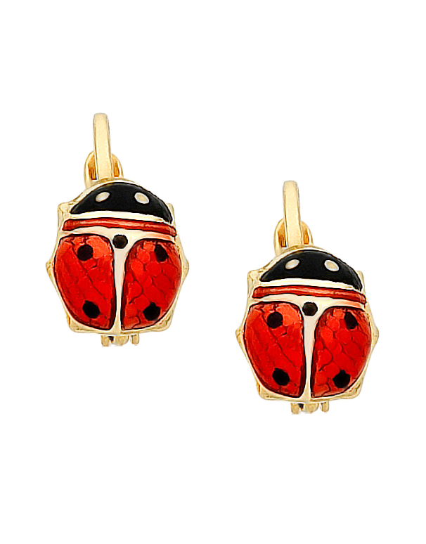 Gold Earrings - 9ct Yellow Gold Ladybird Earrings - 760198 - Salera's Melbourne, Victoria and Brisbane, Queensland Australia