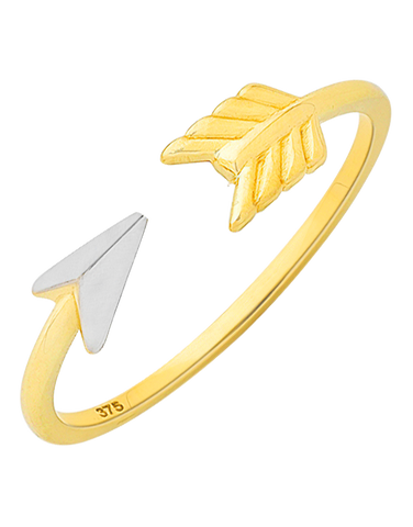 Gold Ring - Two Tone Gold Arrow Ring - 760200