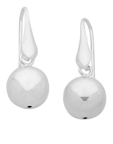 Silver Earrings - Sterling Silver Ball Drop Earrings - 760206