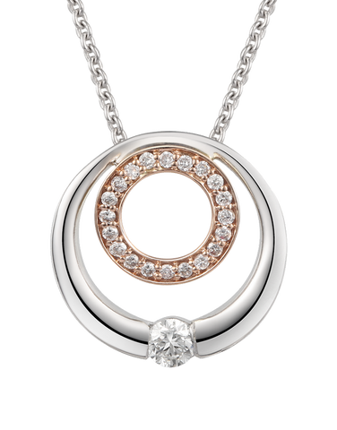 Love & Passion - White & Rose Gold Diamond Pendant