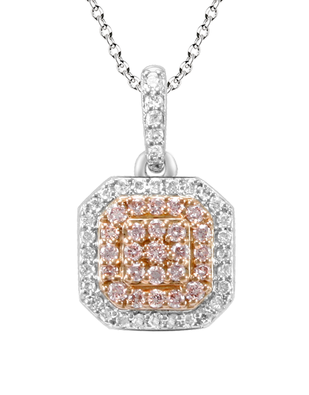 Love & Passion - White Gold White & Pink Diamond Pendant - Salera's Melbourne, Victoria and Brisbane, Queensland Australia