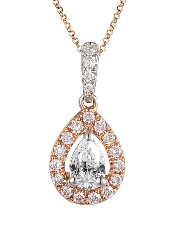 Love & Passion - White Gold Pear Cut Diamond Pendant - Salera's Melbourne, Victoria and Brisbane, Queensland Australia