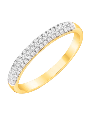Diamond Ring - 10ct Yellow Gold Diamond Ring - 760737