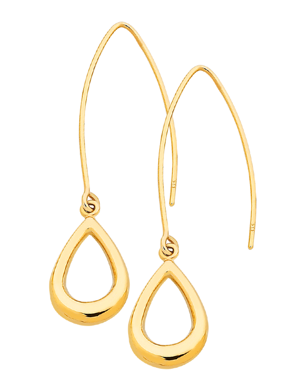 Gold Earrings - Yellow Gold Drop Earrings - 760845 - Salera's Melbourne, Victoria and Brisbane, Queensland Australia
