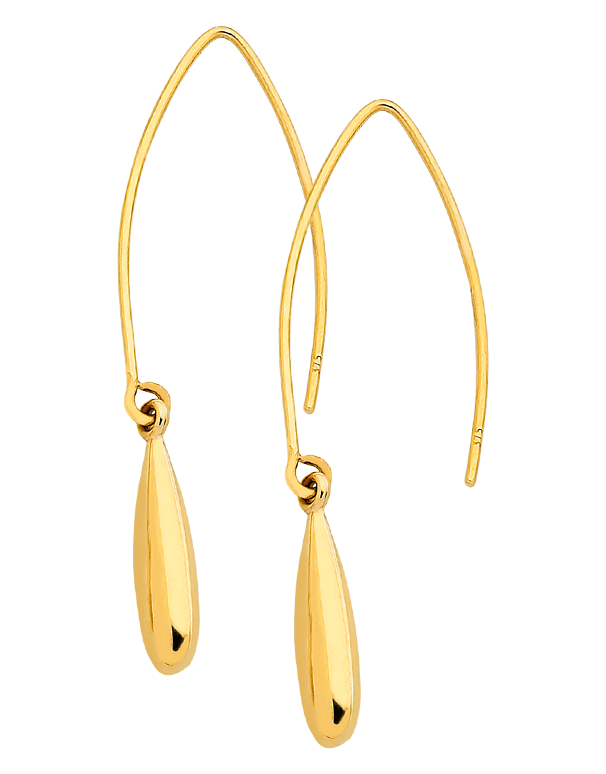 Gold Earrings - Yellow Gold Drop Earrings - 760846 - Salera's Melbourne, Victoria and Brisbane, Queensland Australia
