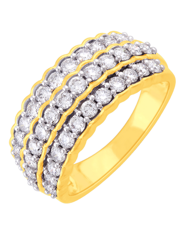 Diamond Ring - 14ct Yellow Gold Diamond Ring - 761379