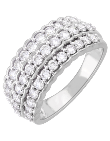 Diamond Ring - 14ct White Gold Diamond Ring - 761380