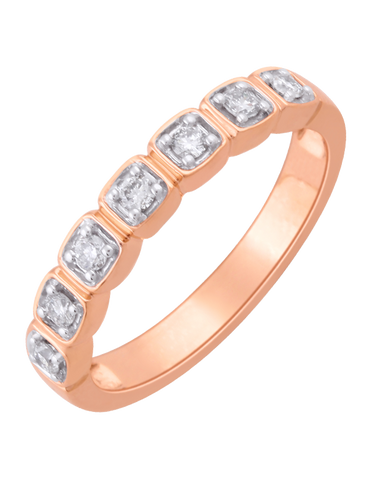 Diamond Ring - Rose Gold Diamond Ring - 761382