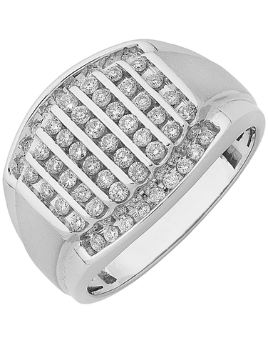Men's Ring - White Gold Diamond Ring - 761446