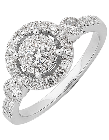Diamond Ring - White Gold Diamond Ring - 761538