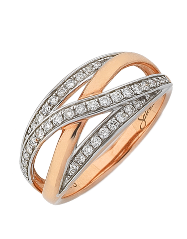 Diamond Ring - 9ct Rose Gold Diamond Dress Ring - 761685