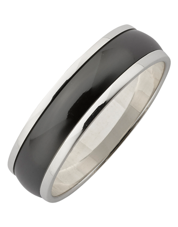 Ziro - Men's Zirconium & Sterling Steel Ring - 761790 - Salera's Melbourne, Victoria and Brisbane, Queensland Australia