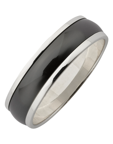 Ziro - Men's Zirconium & Sterling Silver Ring - 761790