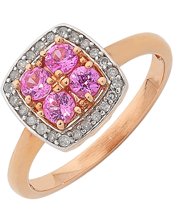 Pink Sapphire Ring - Rose Gold Pink Sapphire & Diamond Ring - 762055 - Salera's Melbourne, Victoria and Brisbane, Queensland Australia