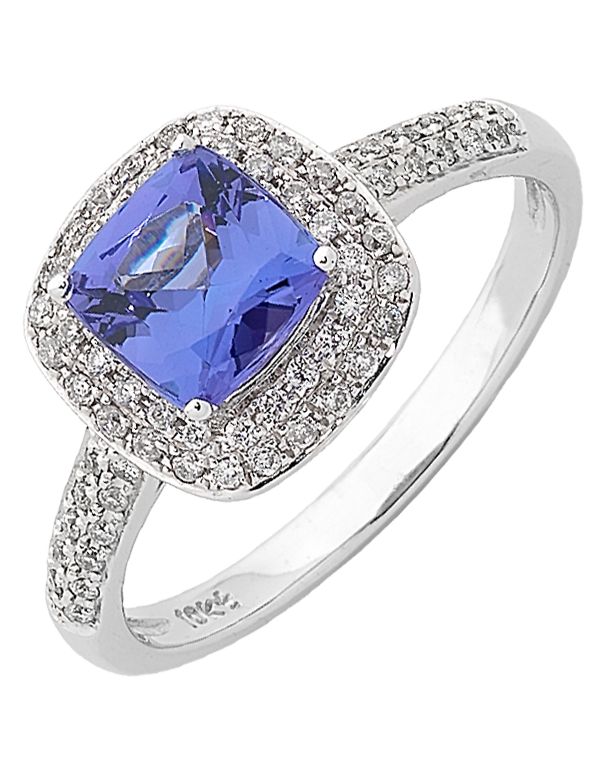 Tanzanite Ring - White Gold Tanzanite & Diamond Ring - 762436 - Salera's Melbourne, Victoria and Brisbane, Queensland Australia