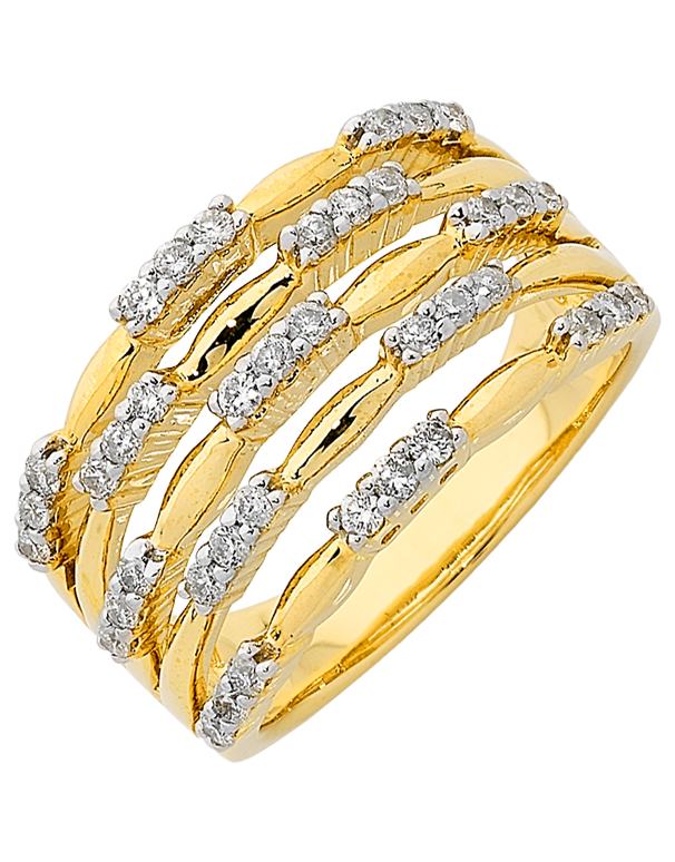 Diamond Ring - Yellow Gold Diamond Ring - 762437 - Salera's Melbourne, Victoria and Brisbane, Queensland Australia