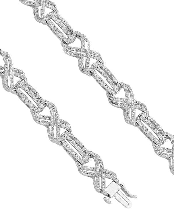 Diamond Bracelet - White Gold Diamond Set Bracelet - 762448 - Salera's Melbourne, Victoria and Brisbane, Queensland Australia