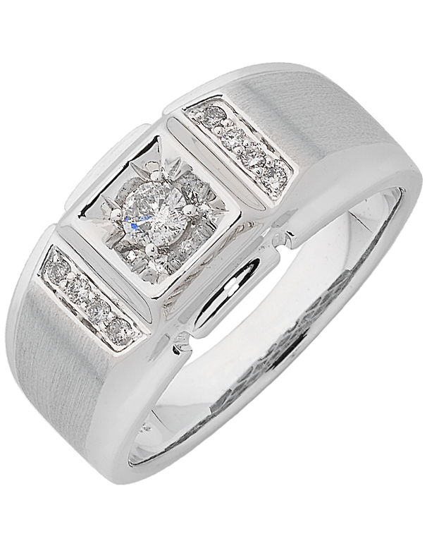 Men's Ring - White Gold Diamond Ring - 762472 - Salera's Melbourne, Victoria and Brisbane, Queensland Australia