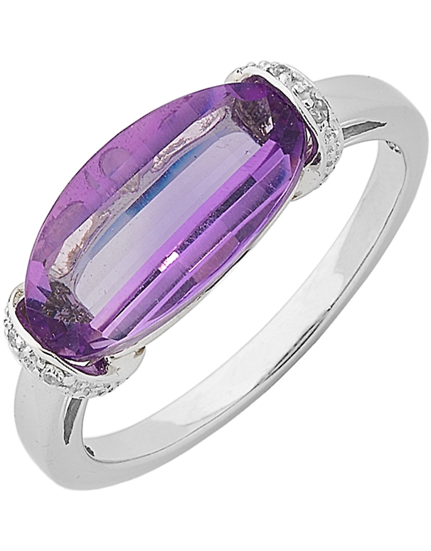 Amethyst Ring - White Gold Amethyst Ring - 762499 - Salera's Melbourne, Victoria and Brisbane, Queensland Australia