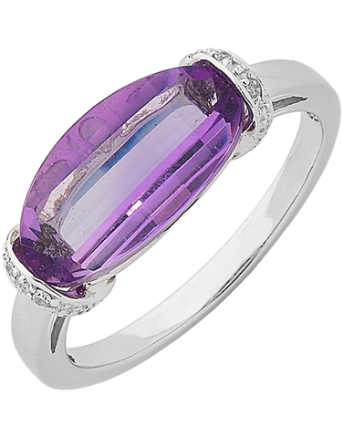 Amethyst Ring - White Gold Amethyst Ring - 762499
