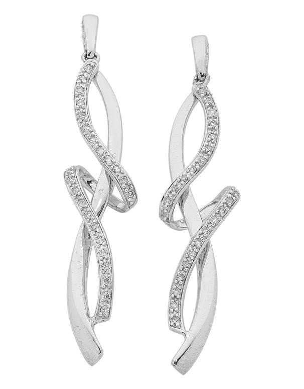 Diamond Earrings - Diamond Set White Gold Earrings - 762501 - Salera's Melbourne, Victoria and Brisbane, Queensland Australia