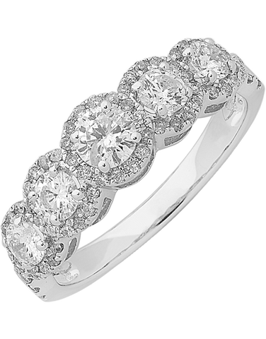 Diamond Ring - White Gold Diamond Dress Ring - 762530