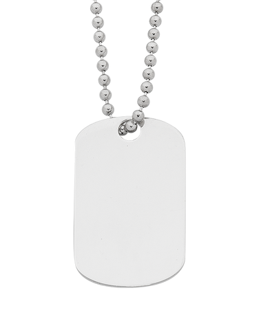 Silver Pendant - Sterling Silver Dog Tag Pendant - 762667
