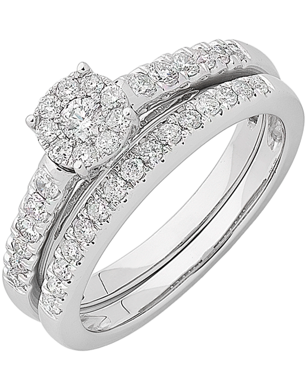 Bridal Set - White Gold Diamond Bridal Set Rings - 762755 - Salera's Melbourne, Victoria and Brisbane, Queensland Australia