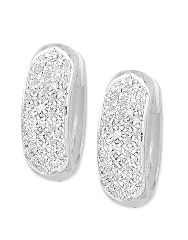 Diamond Earrings - Diamond Set White Gold Hoops - 762873  - Salera's Melbourne, Victoria and Brisbane, Queensland Australia Salera's Melbourne, Victoria and Brisbane, Queensland Australia